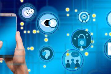 Marketing digital electoral: Estrategias y todo lo que debes saber póster azul con iconos